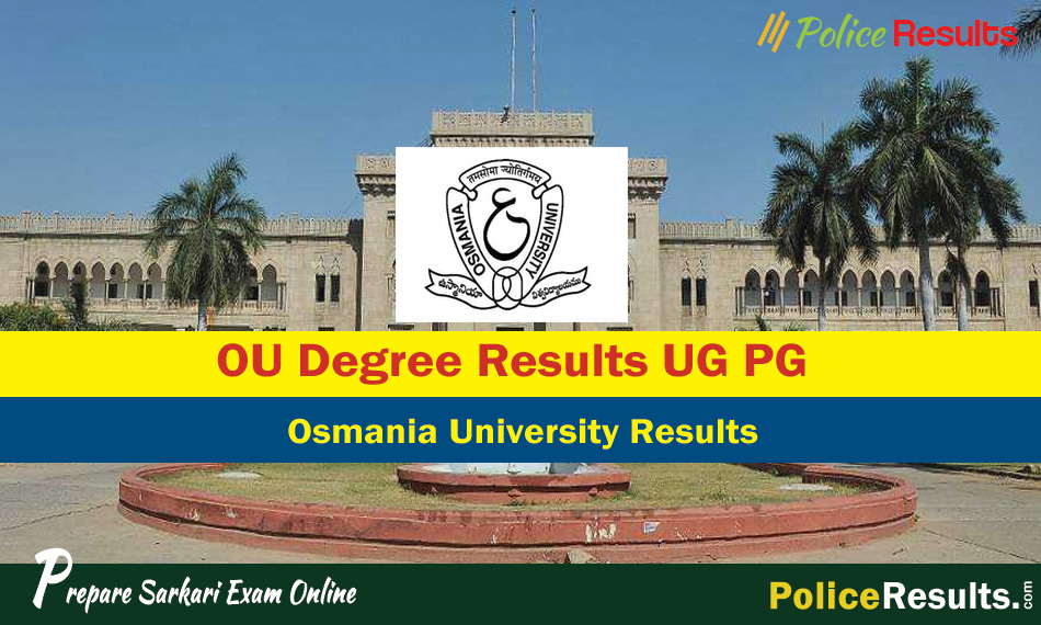 OU Degree Results 2020 – OU Results Degree 1st, 2nd, 3rd Year 2020, Osmania University Results 2019-2020 for BA B.Sc BCA B.Com BBA)