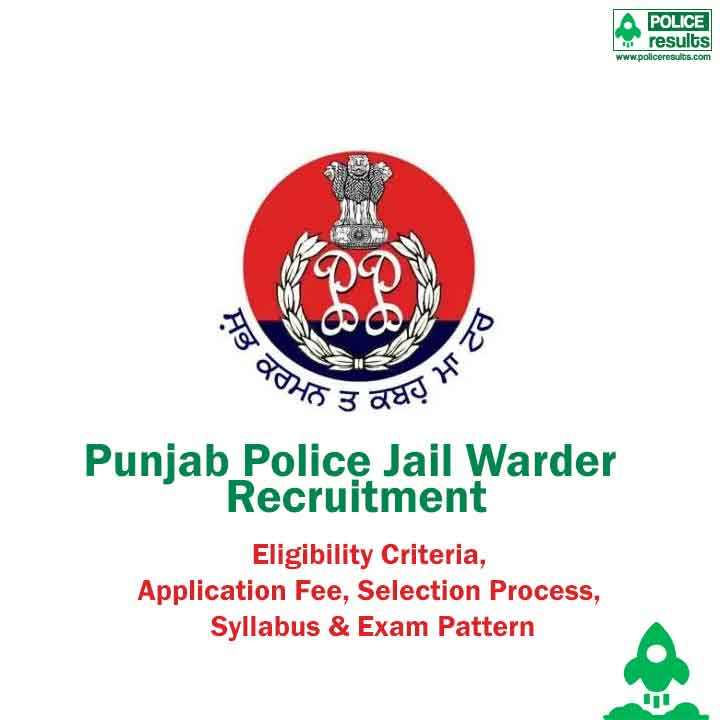 Punjab Police Jail Warder Recruitment 2020 Online Form
