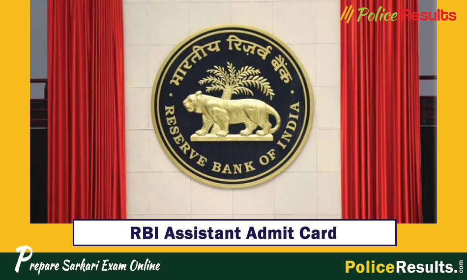 RBI Assistant Admit Card for Prelims 2020