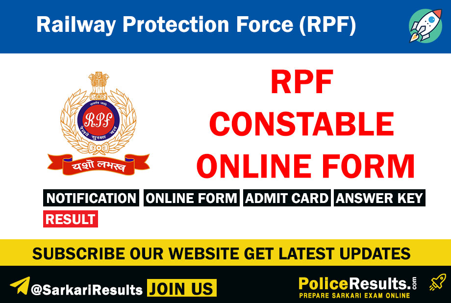 RPF Constable 2020 Registration, Application Form – How to Apply Online