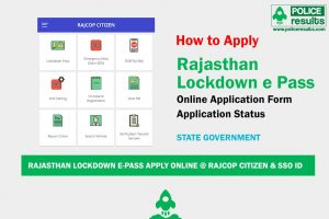 Rajasthan Lockdown E-Pass Apply Online @ RajCop Citizen & SSO ID