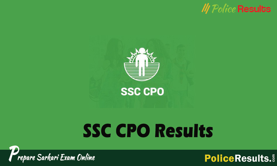 SSC CPO Results 2020 for SI ASI Paper 1 and Paper 2 Out!