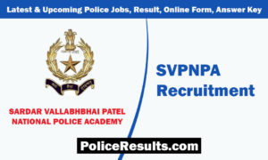 SVPNPA Recruitment 2020 for Assistant Director (Scientific Aids) Post Apply Here