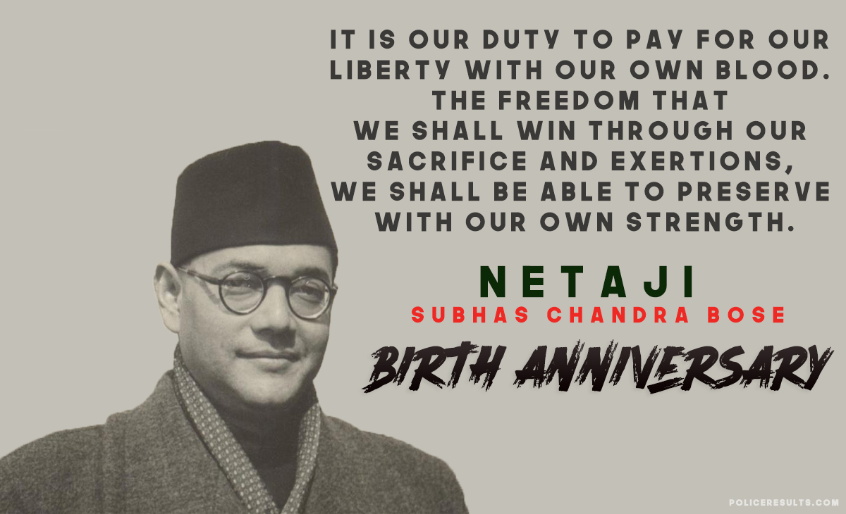 Subhas Chandra Bose famous thoughts of the leader