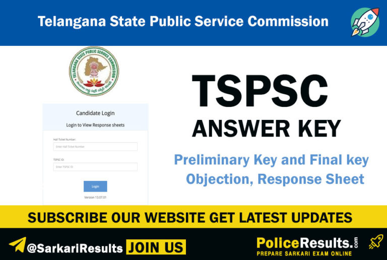 TSPSC Answer Key 2020 - Food Safety Officer Preliminary ...
