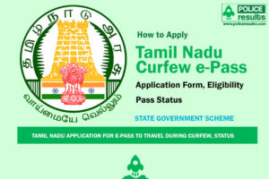 Application for e-Pass to Travel during Curfew | Tamilnadu
