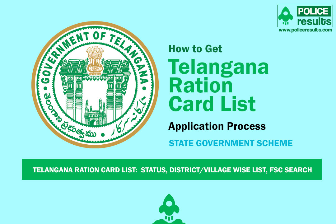 Telangana Ration Card List: Track Card Status, District/Village Wise List, FSC Search
