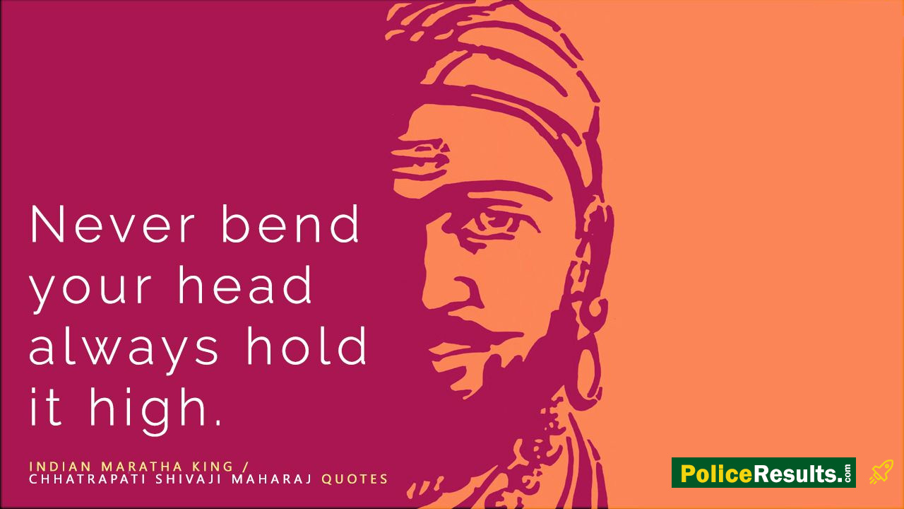 The Great Warrior Chhatrapati Shivaji Maharaj Quotes with Picture