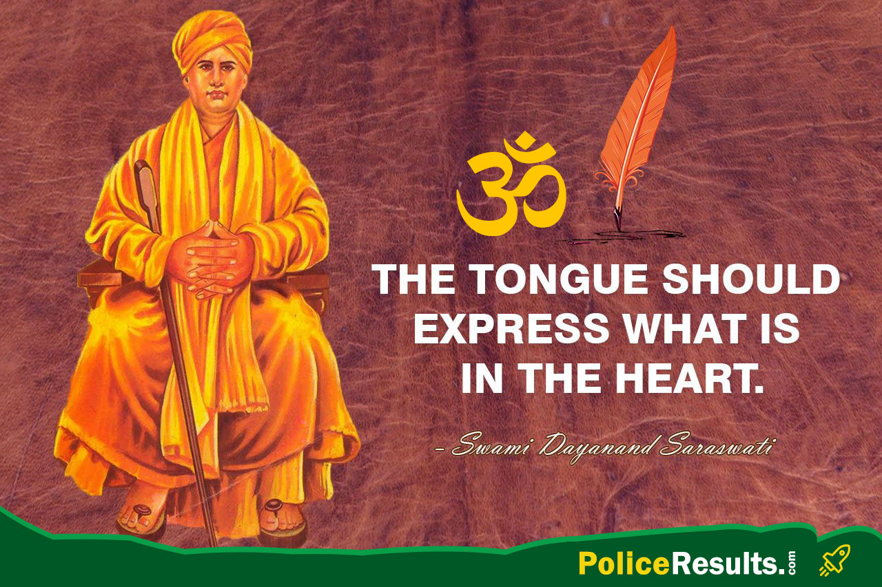 The tongue should express what is in the heart