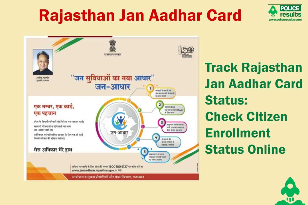 Track Rajasthan Jan Aadhar Card Status: Check Citizen Enrollment Status Online