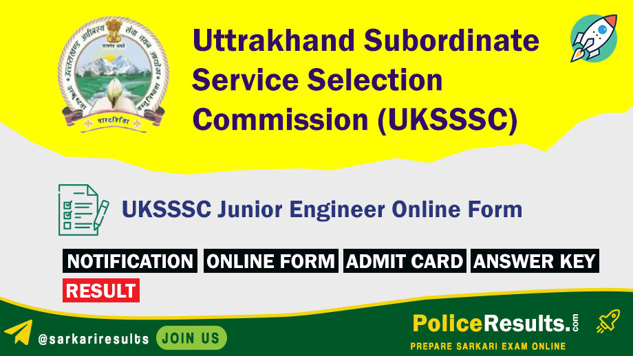 UKSSSC JE Recruitment 2020 – 121 Junior Engineer (Civil) Vacancy – Last Date 02 April