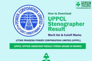 UPPCL Office Assistant Result 2020 Steno Grade III Marks
