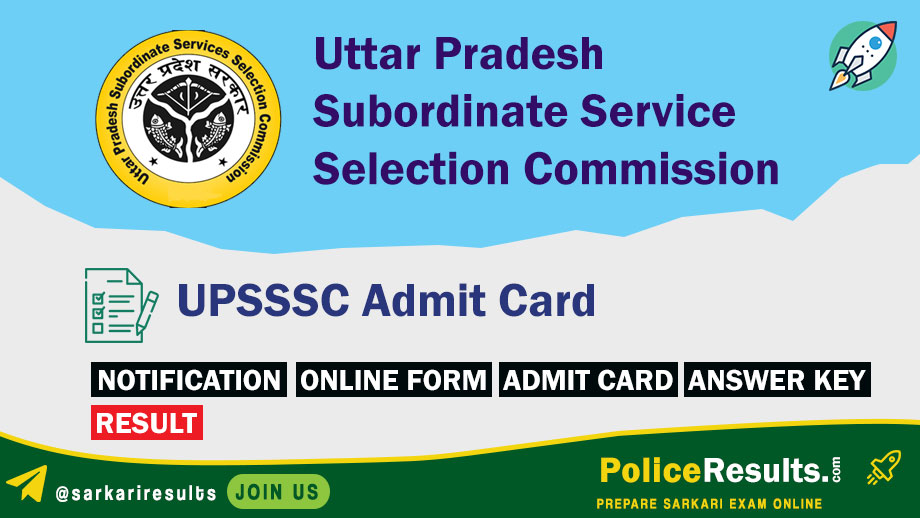 UPSSSC 10+2 Junior Assistant Recruitment Exam Date.Typing Test Admit Card 2020