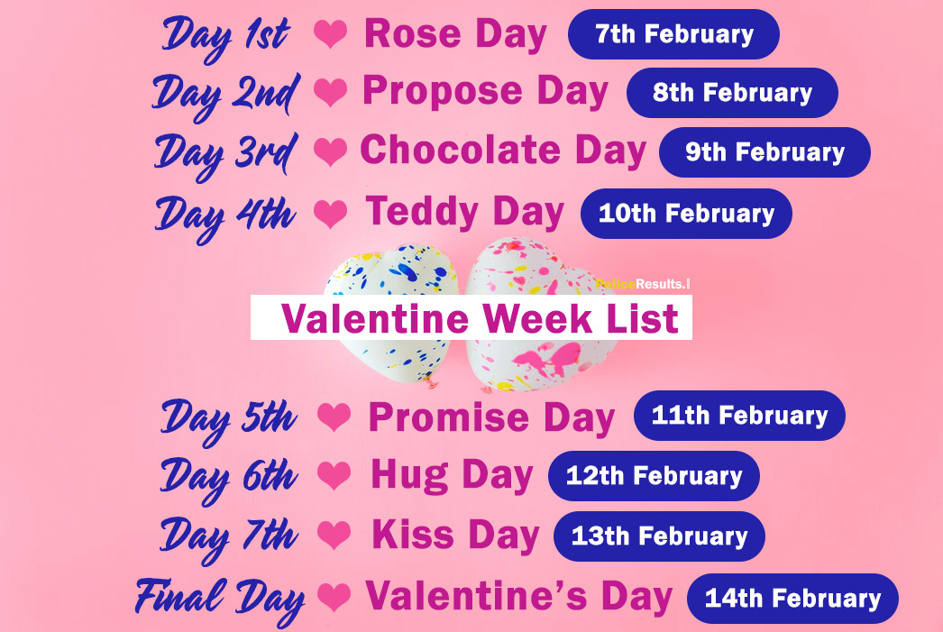 Valentine Week Days 2020 with Dates