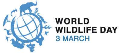 This is a logo for World Wildlife Day.